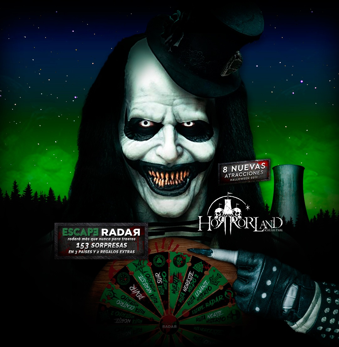 Promoción la Ruleta de Escape Radar en Horrorland Scream Park
